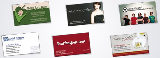 business card designers vancouver