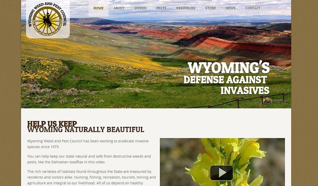 invasive species website design