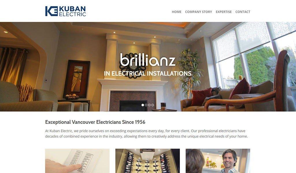 website design for electricians
