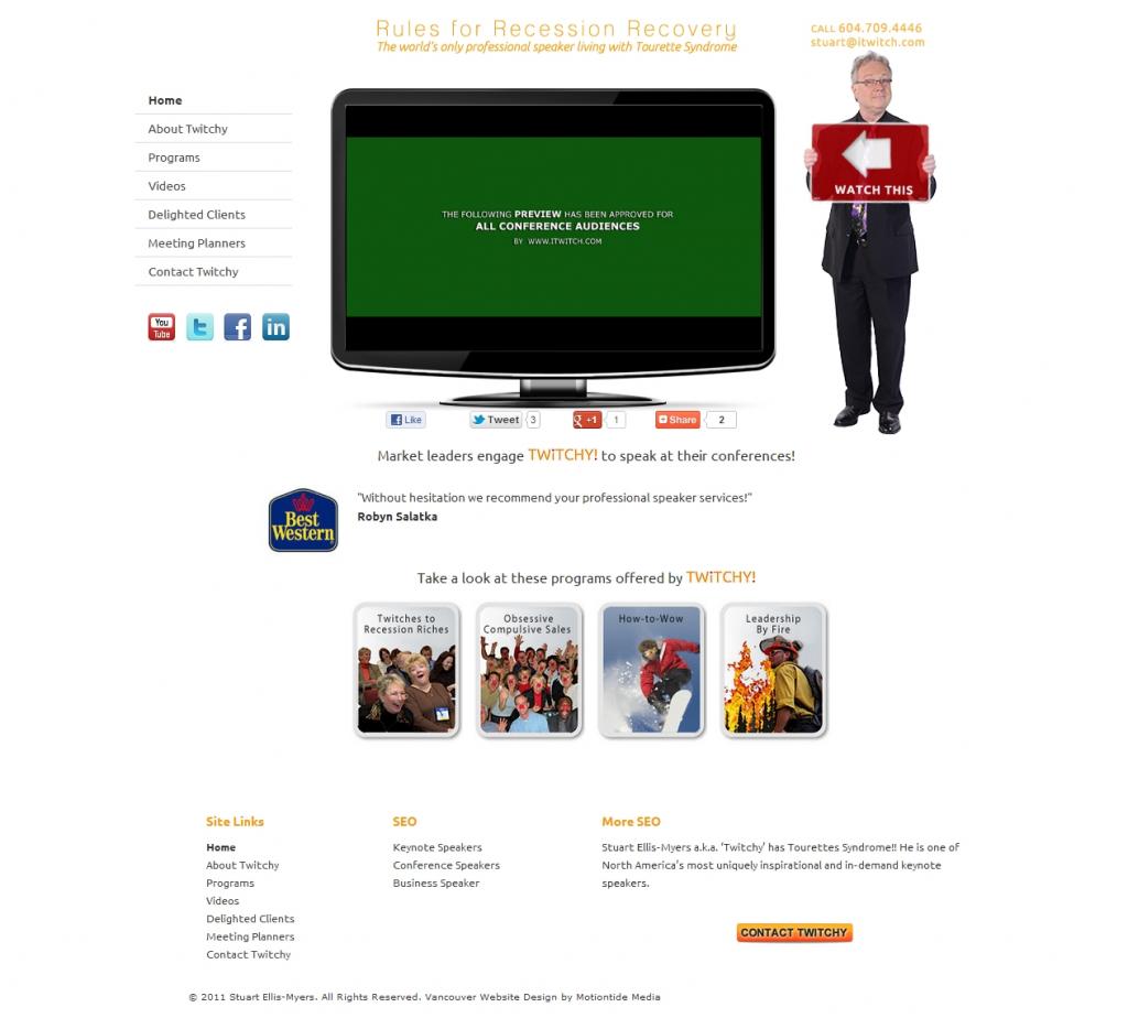 Website design for Keynote Speakers