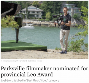 Parksville filmmaker nominated for provincial LEO Award